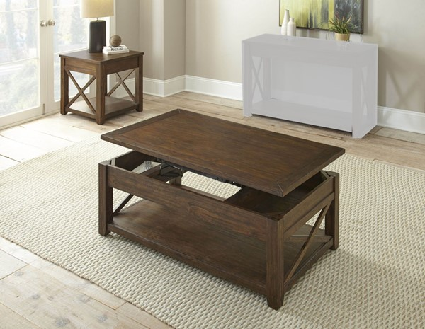 Steve Silver Lenka Warm Mocha 3pc Coffee Table Set SSF-LK100CLC-OCT-S1