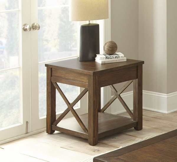 Steve Silver Lenka Warm Mocha End Table SSF-LK100E