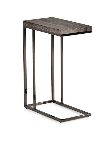 Steve Silver Lucia Gray Black Chairside End Table SSF-LU150CE