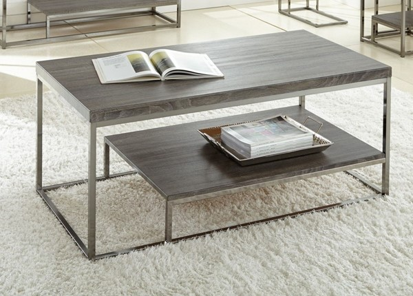 Steve Silver Lucia Gray Black Cocktail Table SSF-LU150C