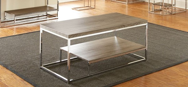 Steve Silver Lucia Gray Brown Cocktail Table SSF-LU350C