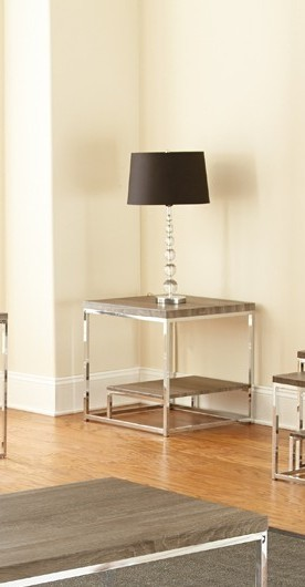 Steve Silver Lucia Gray Brown End Table SSF-LU350E