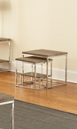 Steve Silver Lucia Gray Brown 2pc Nesting Table SSF-LU350NT