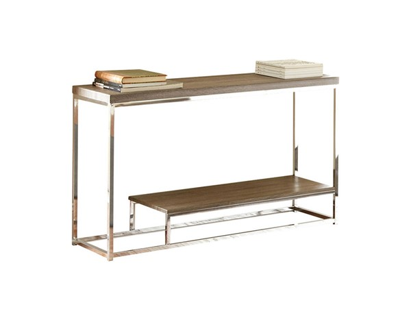 Steve Silver Lucia Gray Brown Sofa Table SSF-LU350S