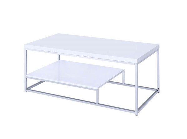 Steve Silver Lucia White Metal Cocktail Table SSF-LU450CW