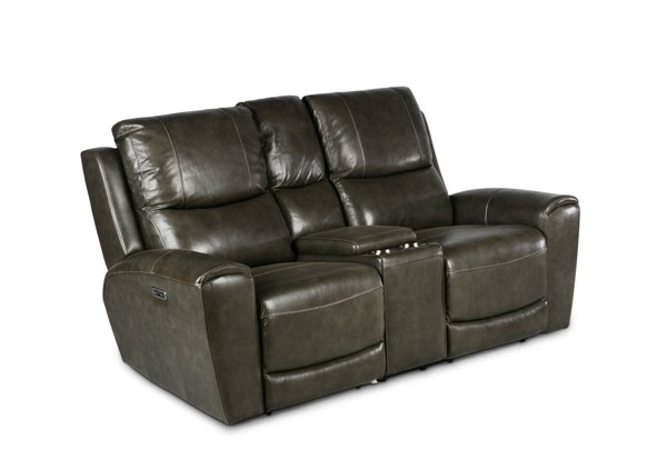 Steve Silver Laurel Grey Power Reclining Console Loveseat SSF-LL950CLG