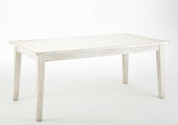 Steve Silver Lighthouse Distressed White Table SSF-LH500TW