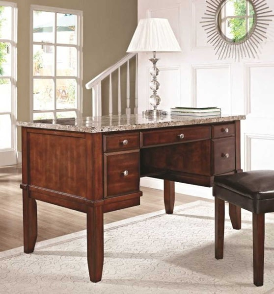 Steve Silver Montibello Marble Top Writing Desk SSF-MN150D