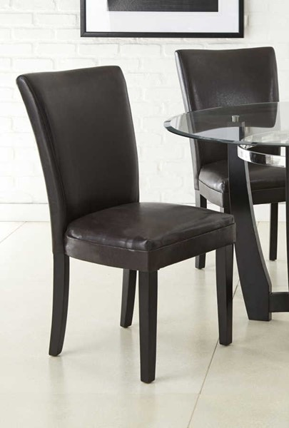 2 Steve Silver Matinee Black PU Side Chairs SSF-MT500SK