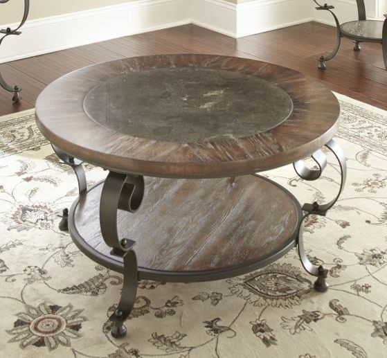 Steve Silver Mulberry Distressed Round Cocktail Table SSF-MU200C