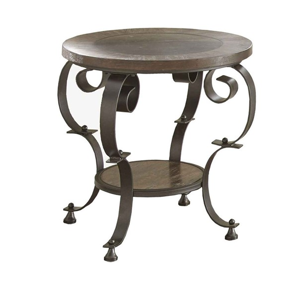 Steve Silver Mulberry Distressed Round End Table SSF-MU200E