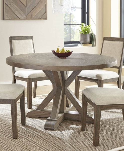 Steve Silver Molly Grey Washed Round Dining Table SSF-MY5454T