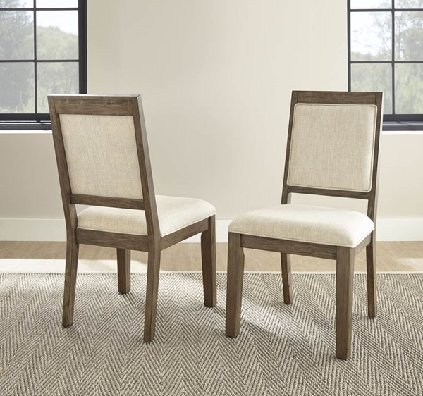 2 Steve Silver Molly Grey Washed Side Chairs SSF-MY400S