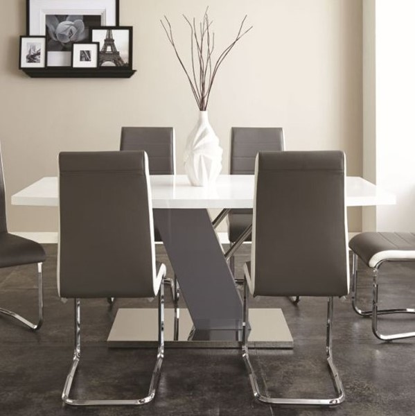 Steve Silver Nevada White Dining Table The Classy Home