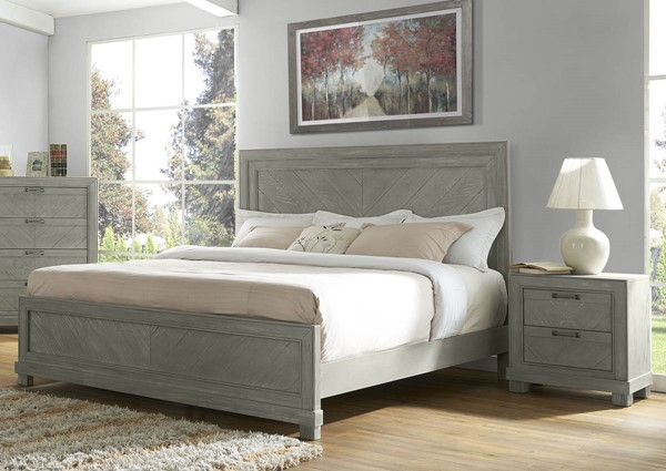 Steve Silver Montana Gray 2pc Bedroom Set with Queen Panel Bed SSF-RE137-Q-BR-S1