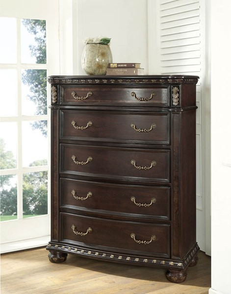Steve Silver Monte Carlo Cocoa 5 Drawers Lift Top Chest SSF-RE163SS-131