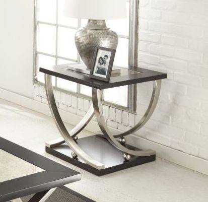 Steve Silver Ramsey Ebony End Table SSF-RM350E