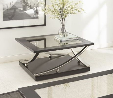 Steve Silver Ramsey Ebony Caster Square Cocktail Table SSF-RM360CAS
