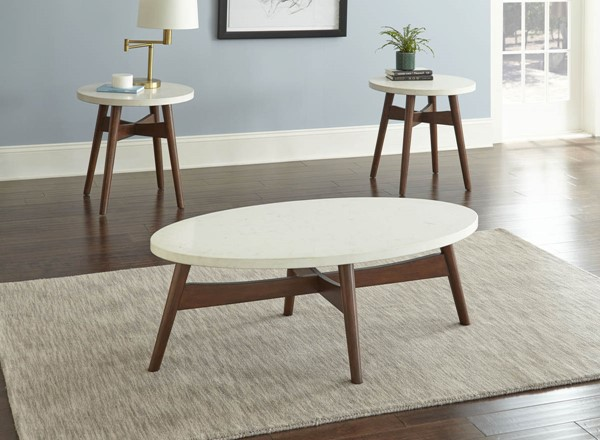 Steve Silver Serena White Cherry 3pc Coffee Table Set SSF-SE300C-OCT-S1