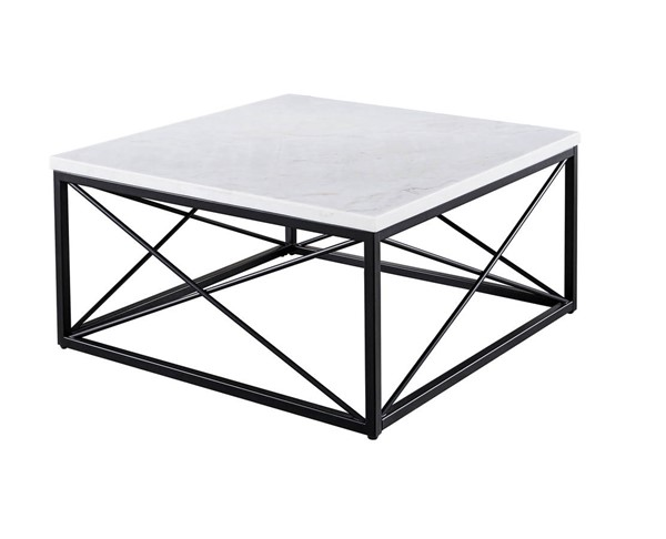 Steve Silver Skyler White Marble Square Cocktail Table SSF-SK200C