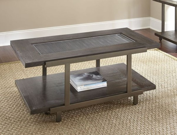 Steve Silver Terrell Smoky Brown Cocktail Table with Caster SSF-TE300CAS