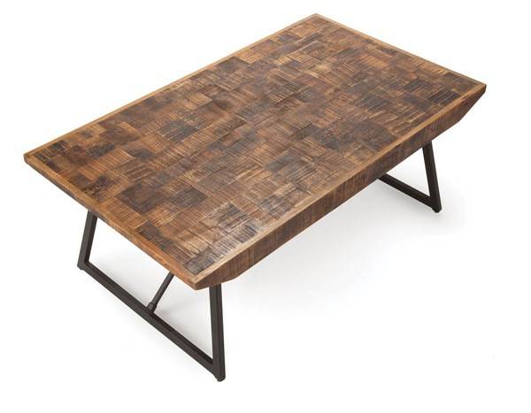 Steve Silver Walden Natural Parquet Cocktail Table SSF-WD300C