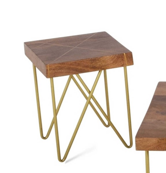 Steve Silver Walter Brass Inlay End Table SSF-WT300E