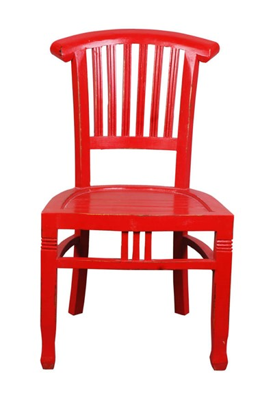 Sunset Trading Shabby Chic Cottage Distressed Red Slat Back Chairs SST-CC-CHA006LD-DCH-VAR
