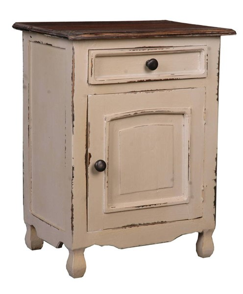 Sunset Trading Shabby Chic Cottage Silvermink Two Tone Storage Chest SST-CC-CHE502TLD-SMRW