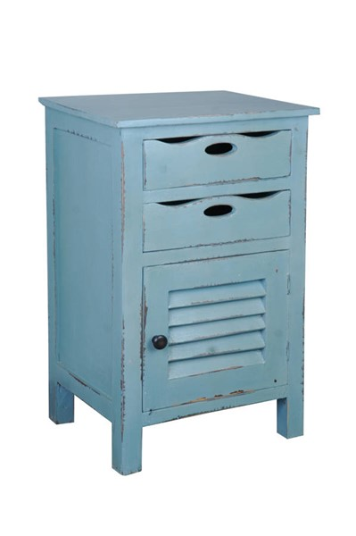 Sunset Trading Shabby Chic Cottage Distressed Blue Accent Table SST-CC-CHE512LD-BB