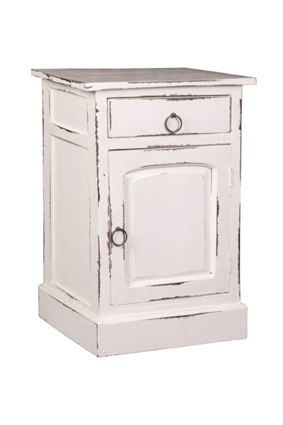 Sunset Trading Shabby Chic Cottage Whitewash Nightstand SST-CC-CHE551LD-WW