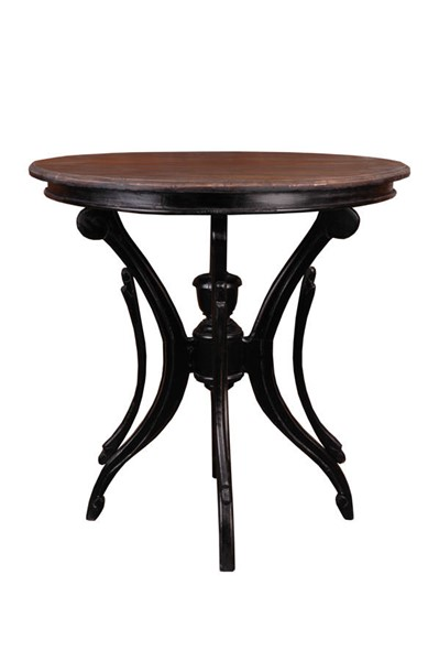 Sunset Trading Shabby Chic Cottage Antique Black Brown Accent Table SST-CC-TAB1251TLD-ABRW