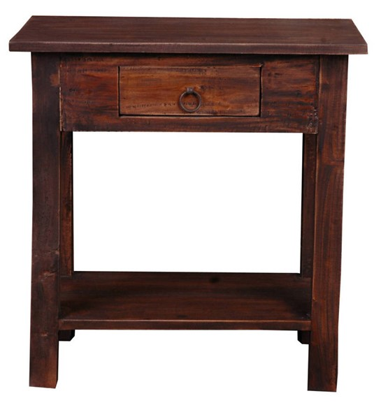 Sunset Trading Shabby Chic Cottage Distressed Brown Accent Table SST-CC-TAB166S-RW