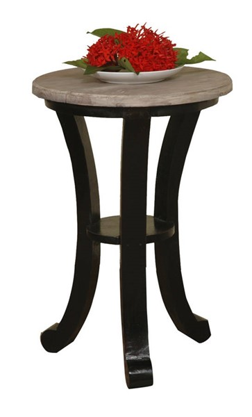 Sunset Trading Shabby Chic Cottage Antique Black Limewash Accent Table SST-CC-TAB178TLD-ABLW