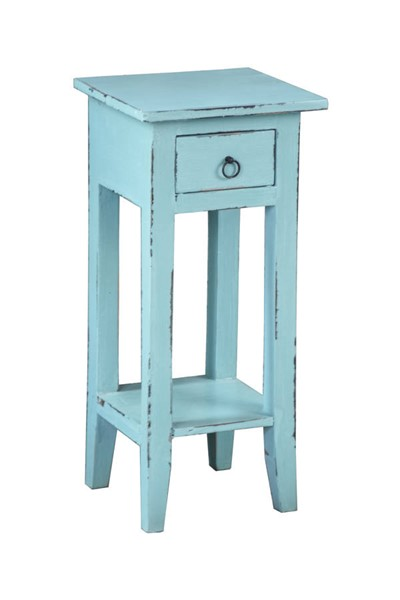Sunset Trading Shabby Chic Cottage Beach Blue Narrow Side Table SST-CC-TAB1792LD-BB
