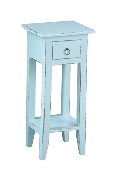 Sunset Trading Shabby Chic Cottage Sky Blue Narrow Side Table SST-CC-TAB1792LD-SB