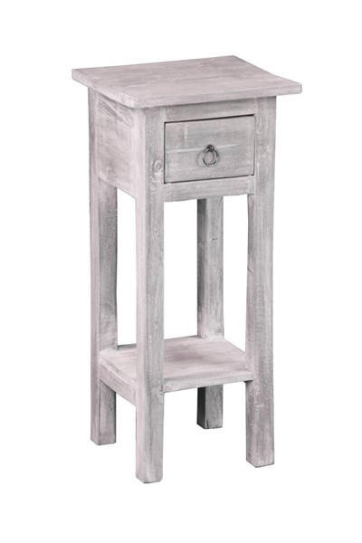 Sunset Trading Shabby Chic Cottage Light Gray Narrow Side Table SST-CC-TAB1792LD-SW