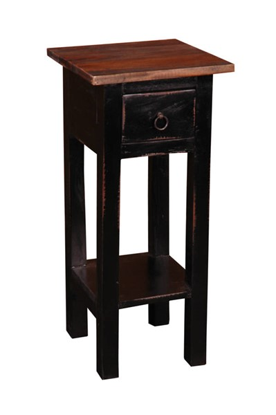 Sunset Trading Shabby Chic Cottage Antique Black Brown Narrow Side Table SST-CC-TAB1792TLD-ABRW