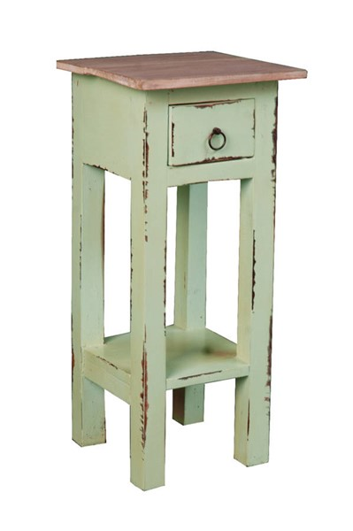 Sunset Trading Shabby Chic Cottage Bahama Lime Narrow Side Table SST-CC-TAB1792TLD-BHLW