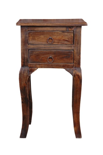 Sunset Trading Shabby Chic Cottage Dark Walnut End Table SST-CC-TAB1793S-VI