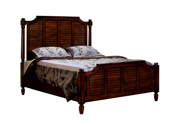 Sunset Trading Bahama Shutter Walnut King Bed SST-CF-1106-0158-KB