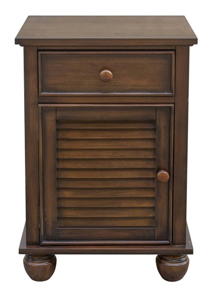 Sunset Trading Bahama Shutter Tropical Walnut Wood Night Stand SST-CF-1137-0158