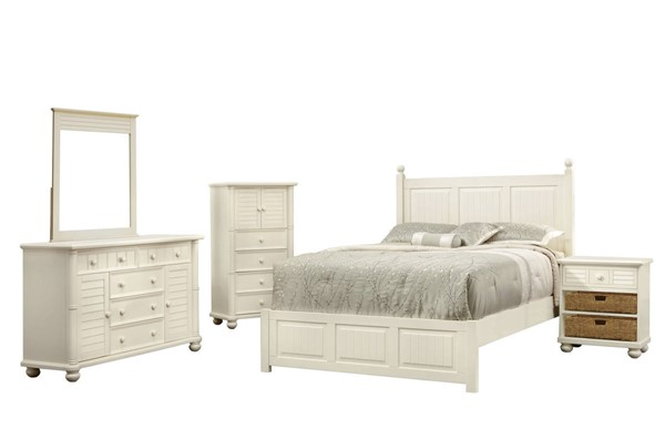 Sunset Trading Ice Cream At The Beach Antique White 5pc Queen Bedroom Set SST-CF-1701-0111-Q-5PC