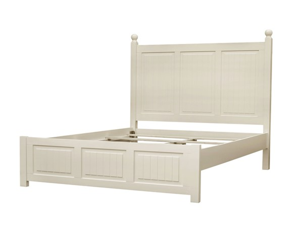 Sunset Trading Ice Cream At The Beach Antique White King Bed SST-CF-1702-0111-KB