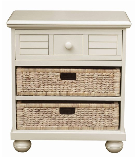 Sunset Trading Ice Cream At The Beach Antique White Nightstand SST-CF-1737-0111