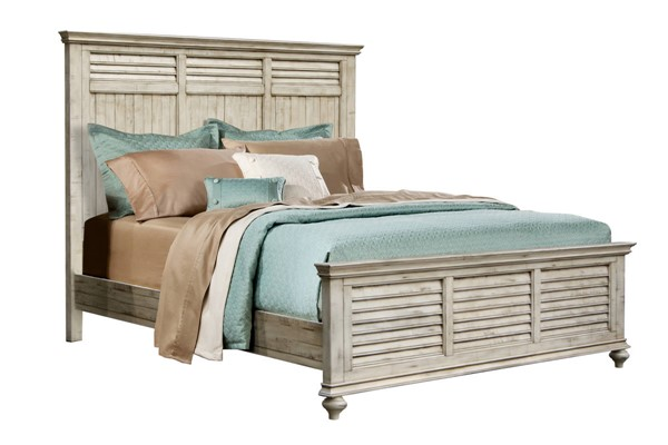 Sunset Trading Shades of Antique White Queen Bed SST-CF-2301-0489-QB