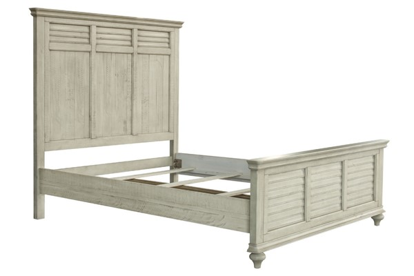 Sunset Trading Shades of Antique White King Bed SST-CF-2302-0489-KB