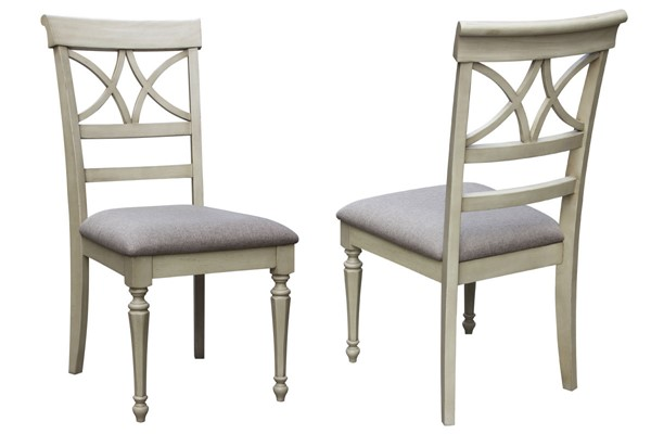 2 Sunset Trading Shades of Antique White Dining and Desk Chair SST-CF-2375-0489-2