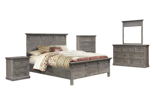 Sunset Trading Solstice Weathered Gray Brown 5pc Queen Bedroom Set SST-CF-3001-0441-Q-5PC