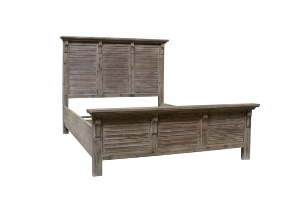 Sunset Trading Solstice Weathered Gray Brown Queen Bed SST-CF-3001-0441-QB